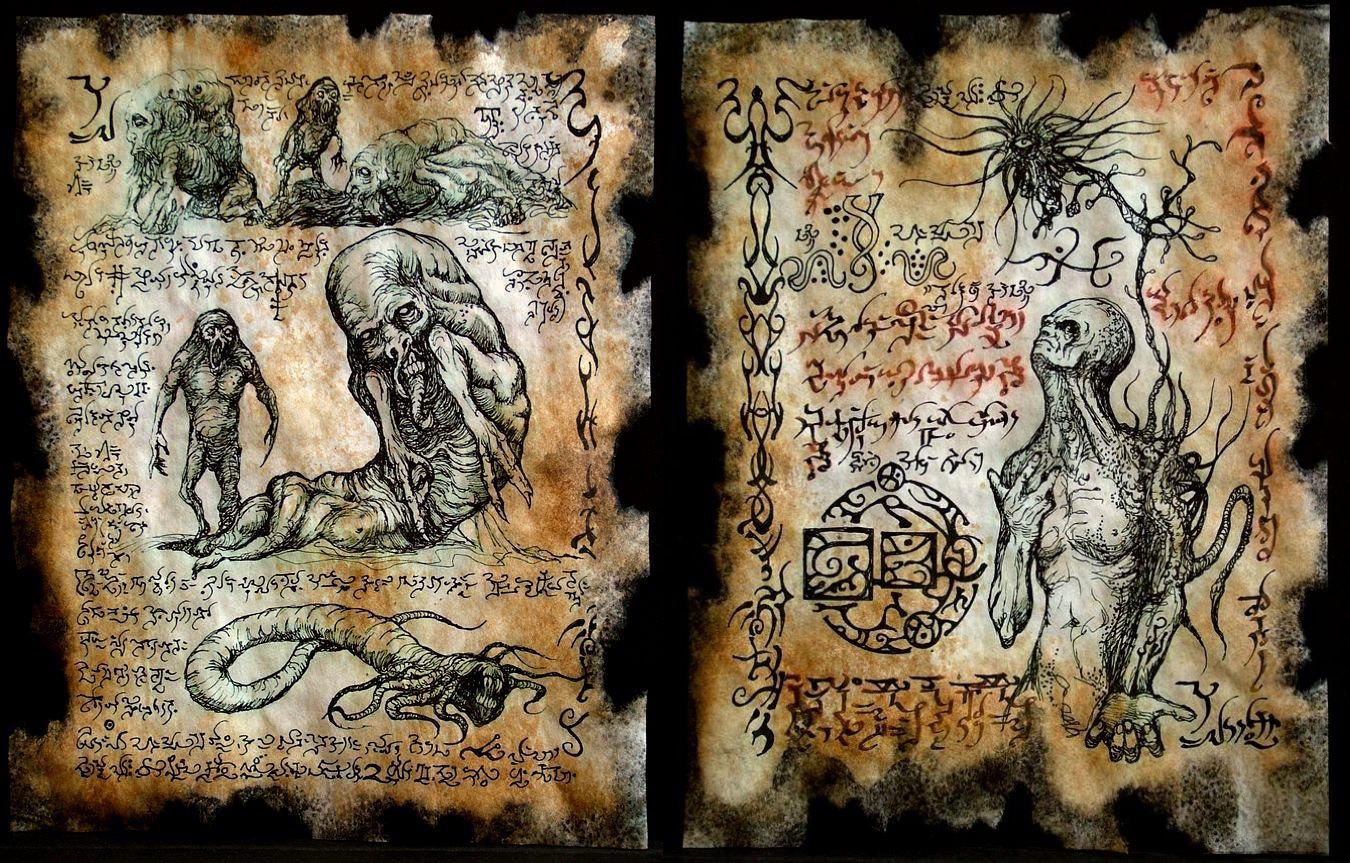 Necronomicon pages